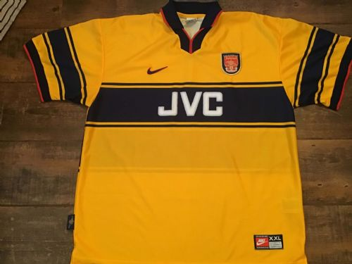 1997 1999 Arsenal Away Football Shirt 2XL